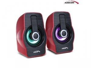 Głośniki Audiocore AC855R komputerowe 6W USB czerwone