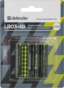 Baterie alkaliczne Defender LR03-4B AAA - 4 szt blister