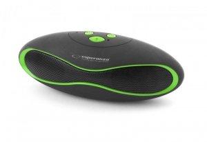 Głośnik Bluetooth Esperanza Trival czarno-zielony