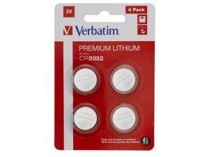 Bateria Verbatim CR2032 (4 szt blister)