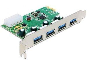 Kontroler USB 3.0 Delock PCIe 4x USB 3.0 zewn.
