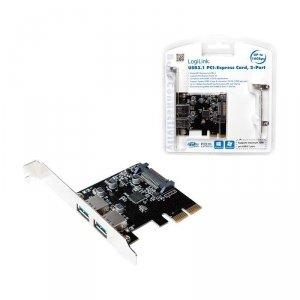 Kontroler USB 3.1 LogiLink PC0080 PCIe 2x USB 3.1