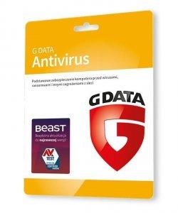 GDATA Antivirus 1PC 2lata karta-klucz