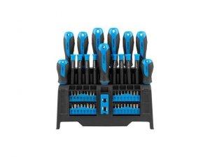 Zestaw narzędzi Lanberg NT-0804 zestaw śrubokrętów i bitów z magnetyzerem 50 sztuk