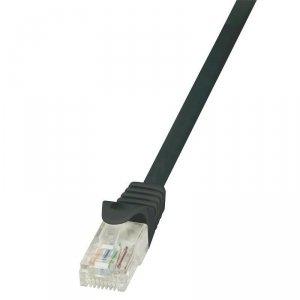 Patchcord LogiLink CP1013U CAT5e U/UTP 0,25m, czarny