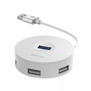 Baseus adapter HUB USB 3.0 do 4xUSB biały