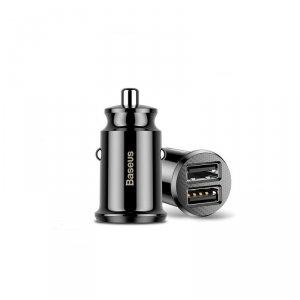 Baseus ładowarka samochodowa Grain 2x USB 3,1A czarna