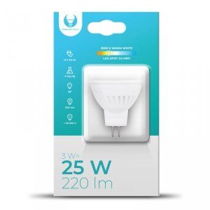 Żarówka LED G4 MR11 3W 12V 3000K 220lm Ceramiczna Forever Light