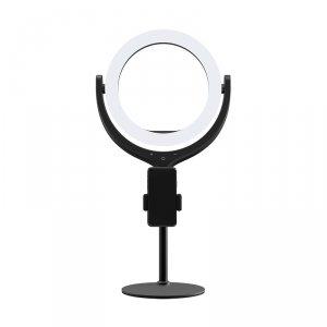 Devia Uchwyt stojak na telefon z lampą LED 8 cali 40cm czarny
