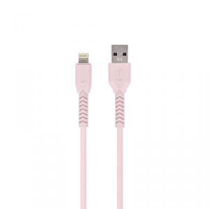 Maxlife kabel MXUC-04 USB - Lightning 1,0 m 3A różowy