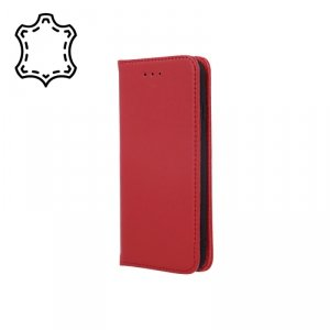 Etui skórzane Smart Pro do Samsung Galaxy A42 5G bordowy