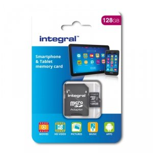INTEGRAL karta pamięci 128GB SMARTPHONE AND TABLET MICROSDXC CLASS 10 UHS-I U1