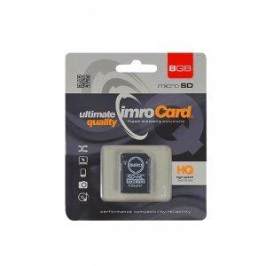 IMRO MicroSDHC 8GB kl.4 z adapterem