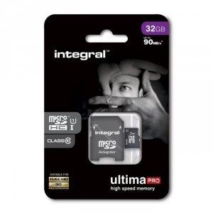 Integral karta pamięci microSDHC Ultima PRO (32GB | class 10 | UHS-I | 90 MB/s) + adapter