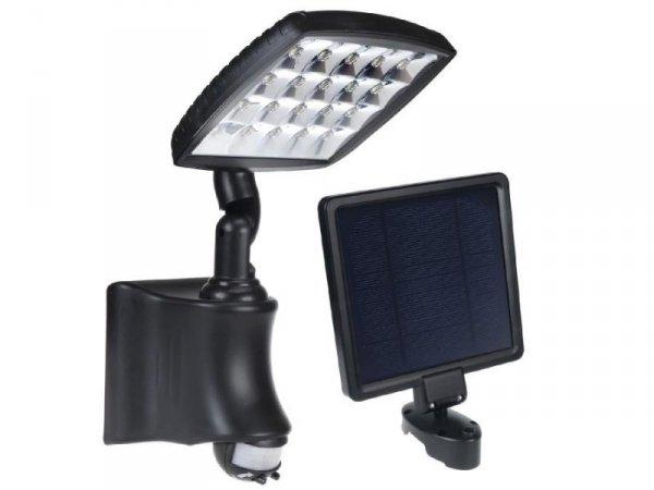 Lampa solarna Greenblue GB163 ścienna z czujnikiem ruchu PIR IP44 2800mAh 280lm