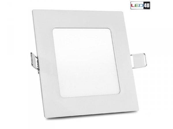 Panel LED sufitowy Led4U LD152W podtynkowy slim 6W Warm white 2800-3200K 120*120*H20mm