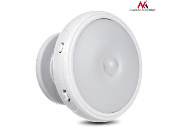 Lampa LED z sensorem ruchu Maclean MCE223 magnes, tylne podświetlenie 3xAAA tryby świecenia: ciągły, czujnik pir