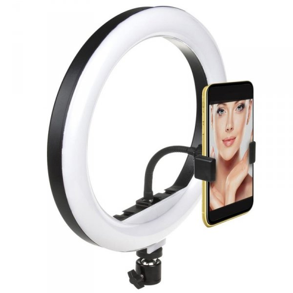 Lampa pierścieniowa 12'' LED 20W Maclean MCE612B samowyzwalacz, bluetooth, zmiana barwy światła, zmiana jasności