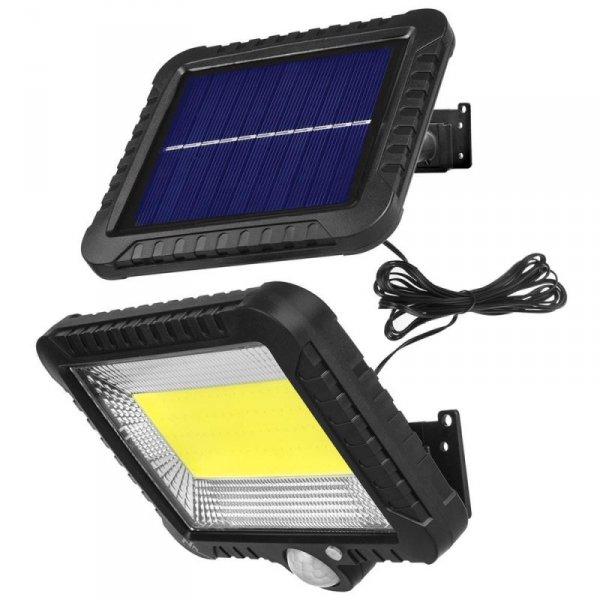 Naświetlacz LED solarny z czujnikiem ruchu Maclean MCE438 IP44, 5W, 400lm, 6000K zimna biała, akumulator litowy 1300 mAh, 5,5V D
