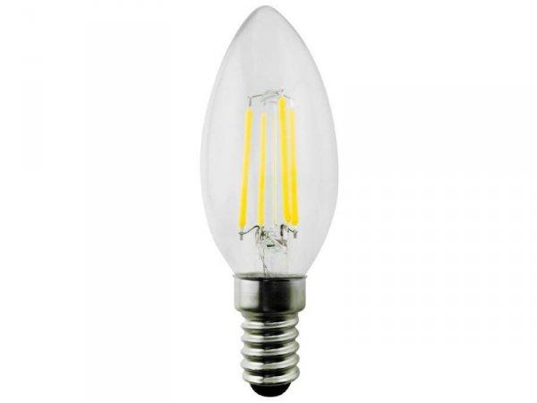 Żarówka filamentowa LED E14 Maclean MCE286 WW 6W 230V ciepła biała 3000K 600lm retro edison