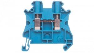 Złączka szynowa 2-przewodowa 4mm2 niebieska NSYTRV42BL