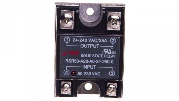 Przekaźnik półprzewodnikowy 1P 24-280VAC/25A Uster= 50-280V DC RSR50-A28-A0-24-250-0 2612038
