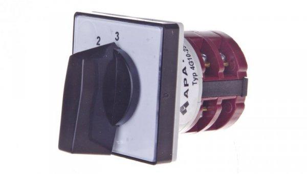 Łącznik krzywkowy 0-1-2-3 1P 10A do wbudowania 4G10-254-U