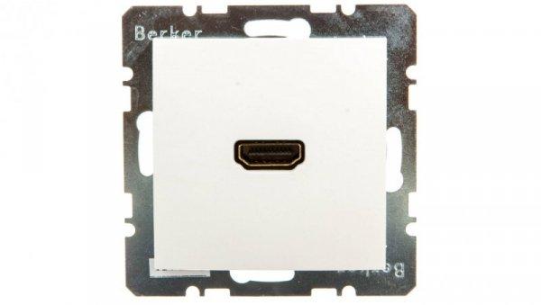 Berker S.1 Gniazdo HDMI z przyłączem 90 stopnii śnieżnobiałe połysk 3315438989