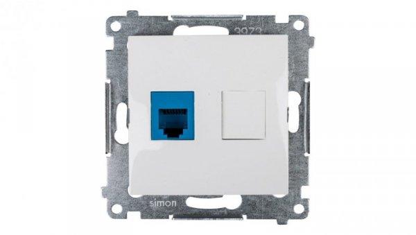 Simon 54 Gniazdo telefoniczne pojedyncze RJ12 białe DT1.01/11