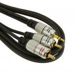 Kabel  PROLINK EXCLUSIVE 1,2m jack-2RCA pozłacane