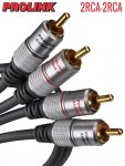 Kabel RCA PROLINK EXCLUSIVE 0,5m 2RCA pozłacane