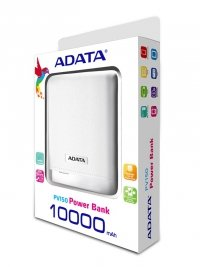 ADATA PV150 Power Bank 10000mAh 2.1A LED - Biały