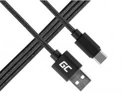 Kabel Przewód USB-C Nylon 1 M Green Cell