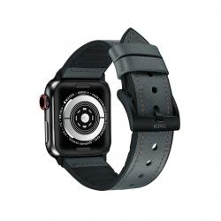 JCPAL Gentry Leather Band Midnight Green - Pasek do Apple Watch 42mm, 44mm (nocna zieleń)