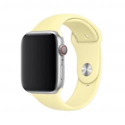 Apple pasek sportowy w kolorze łagodnym żółtym do Apple Watch 42/44 mm - S/M i M/L