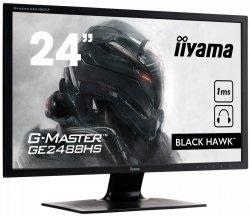 IIYAMA G-MASTER BLACK HAWK GE2488HS-B2 24 1ms FreeSync + Słuchawki