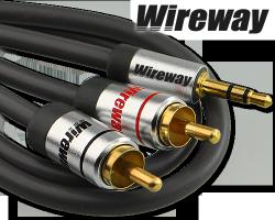 Kabel Jack-2RCA Wireway 8m Audio
