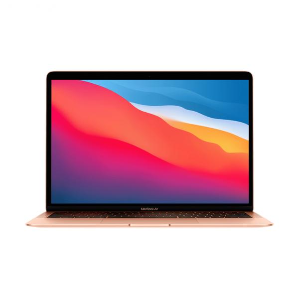 MacBook Air z Procesorem Apple M1 - 8-core CPU + 7-core GPU / 8GB RAM / 256GB SSD / 2 x Thunderbolt / Gold (złoty) 2020 - nowy model