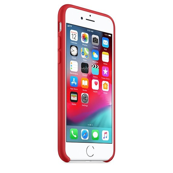 Apple Silicon Case Etui do iPhone 7/8 Red (czerwony)