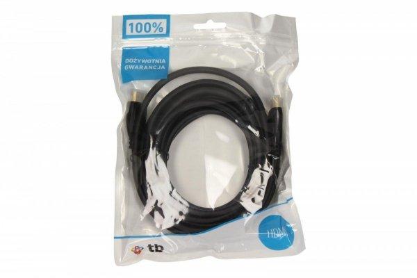 Kabel HDMI v1.4, pozłacane wtyki, 3D, 4Kx2K, 5m