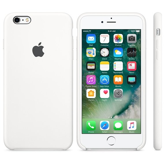 Apple Silicon Case Etui do iPhone 6/6s White (biały)