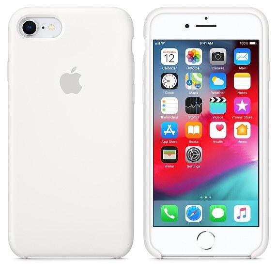 Apple Silicon Case Etui do iPhone 7/8 White (biały)