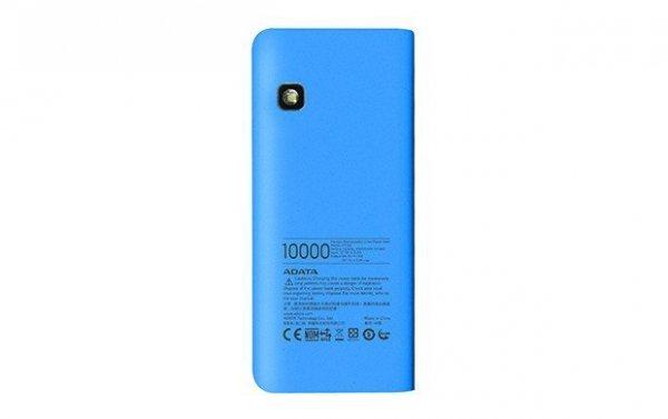 Adata PowerBank PT100 10000mAh 3.1A Niebieski/Biały