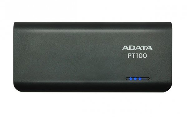 Adata PowerBank PT100 10000mAh 3.1A Czarny/Zielony