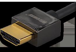 Kabel HDMI Wireway 2.0 Slim 3m pozłacany