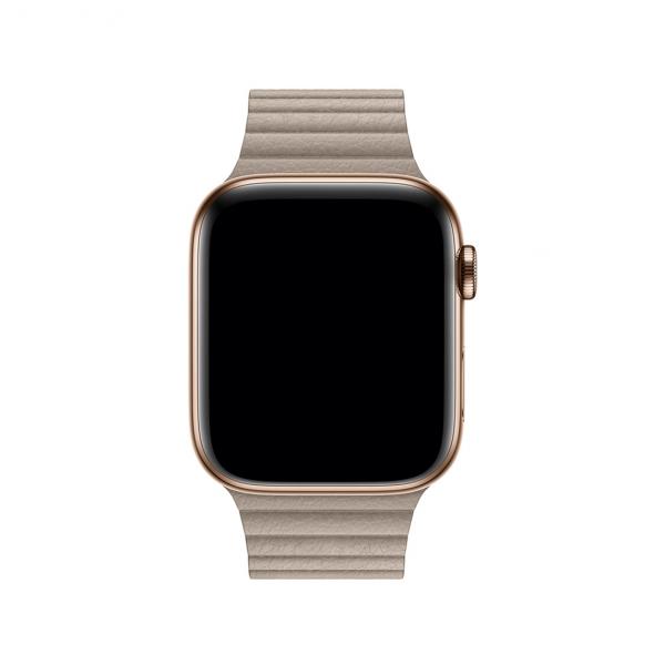 Apple opaska skórzana w kolorze piaskowca do Apple Watch 42/44 mm - Rozmiar M
