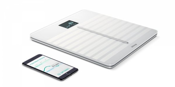 Waga Withings Body Cardio - pełna analiza składu masy ciała oraz pomiarem prędkości fali tętna (biała)