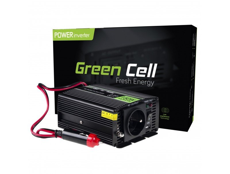 Przetwornica Napięcia Green Cell 12v Do 230v 150w 300w Pozostałe Wyposażenie Domu Rtv I Agd