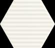Woodskin Bianco Heksagon Struktura B 19,8x17,1