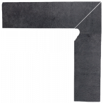 Paradyż Bazalto Grafit Cokół 2 El. - Prawy 8,1x30